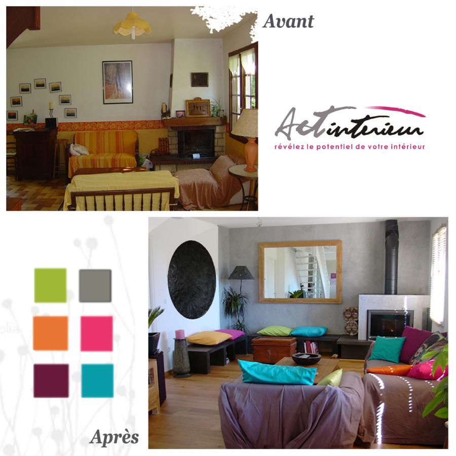D coration r alis par act 39 int rieur d coration home staging home o - Decoration avant apres ...