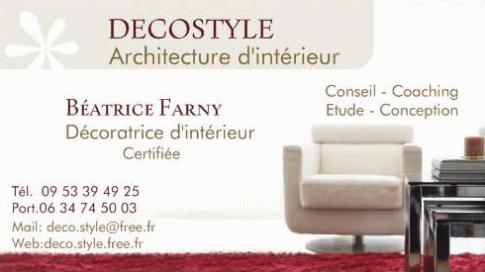 Carte De Visite 2 DECOSTYLE Architecture Intrieure